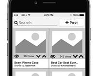 App Prototype - Wireframe