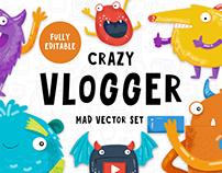 The Crazy Vlogger - Youtube set
