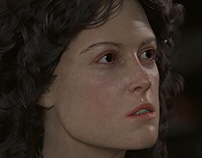 Lt. Ellen Louise Ripley from Alien (1979) - 3D