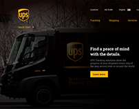 UPS — UI/UX Website & Mobile App Re-design