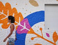 Mural painting for a Child Center, Santa Lucía, Uruguay