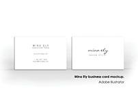 Mina Ely Business Card Design