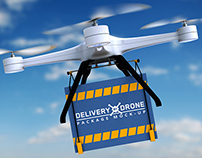 Delivery By Drone Package Mock-Up