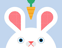 Carrot! Bunny Rabbit Art Print