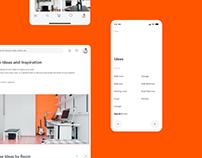 Room Ideas for Overstock.com. E-commerce+Web App