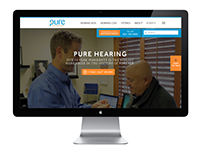 Pure Hearing Website Design