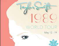 Taylor Swift 1989 World Tour Poster