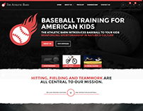 Homepage Design for a Basketball Training Institute