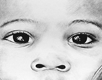 African Boy / Charcoal Drawing