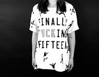Finally Fucking Fifteen · T-shirt OFFF 2014 / Coolshit (COPY)