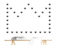 Vinyl decals stickers: Cats, Bones & Crowns