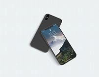 3D iPhone X Screen Mockup