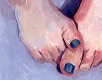 Hands and Feet - Oil Paintings