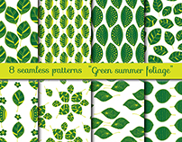 Project 1. Foliage. Seamless patterns from leaves