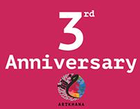 Artkhana's 3rd Anniversary Poster