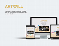 DailyI Day 003 - Landing Page for ARTWILL Webapp
