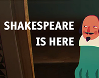 """Shakespeare is Here"" cartoon and its characters"