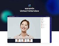 Saramin Untact Interview UXUI Project (사람인 영상면접 서비스)