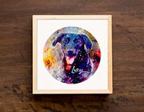 Custom pet portrait - Lucy