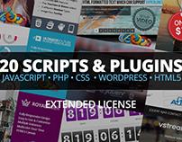2017 Mega WordPress Bundle | 10 Scripts & 10 Plugins