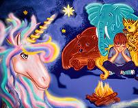 cheerful unicorn