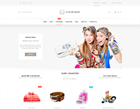 Luxury Shop eCommerce PSD Template | Shopping