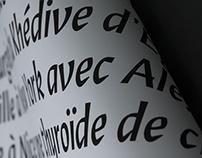 Olympiade - type design