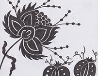 Felt pen chintz drawing