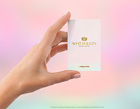 Female Hand with Vertical Business Card Mockup