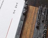 Letterpress typeset Namecard V13