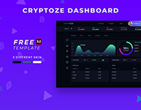 Cryptoze 2.0- Customer Dashboard Freebie by Jitu Raut