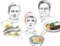 Chefs portrait for Vogue Brazil