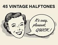 45 Vintage Halftones