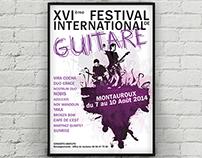 Affiche pour le festival de guitare de Montauroux