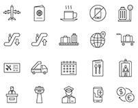 20 Airport Vector Icons