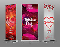 Valentines Roll Up Banner Bundle