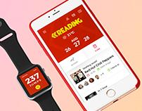 Reading festival app - UX/UI