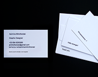 Card visit: design & donts / self - promotion