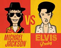 MJ vs Elvis! (Infographic)