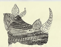 Calligraphic interpretations for Endangered Wildlife..