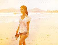 Morning Walk at Beach Shore