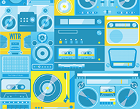 Radio Vector Illustrations
