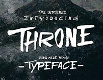 THRONE handmade brush typeface