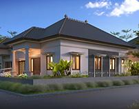 Rumah Bapak Faruq Rumah Pojok Klasik Simple di Jombang
