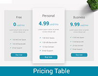 Pricing Table || Pricing Package || Chart Download