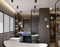 Bedroom and Bathroom Design in New Cairo