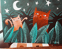 """Serie de pinturas """"Los Gatos"""""""