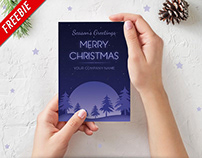 Christmas Special - Season' Greeting Card -Freebie PSD