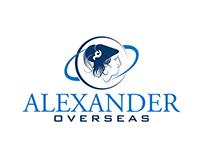 Alexander overseas Logo Designing Import export Firm