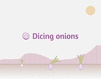 Dicing onions | Narrative Data visualization
